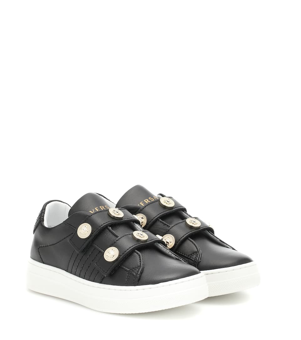 88e13a7200954 Medusa Stud Leather Sneakers - Young Versace
