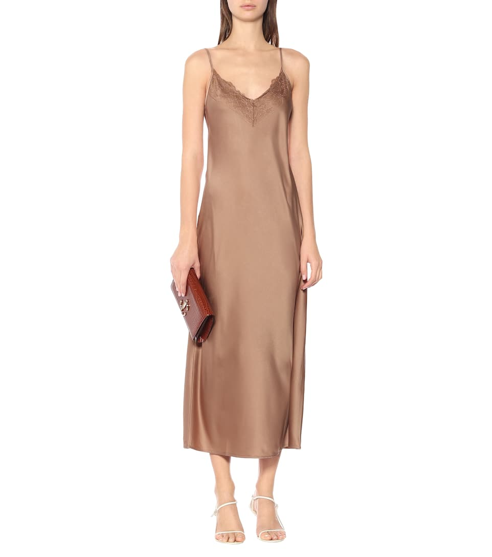 Max Mara - Leisure Vera satin slip dress