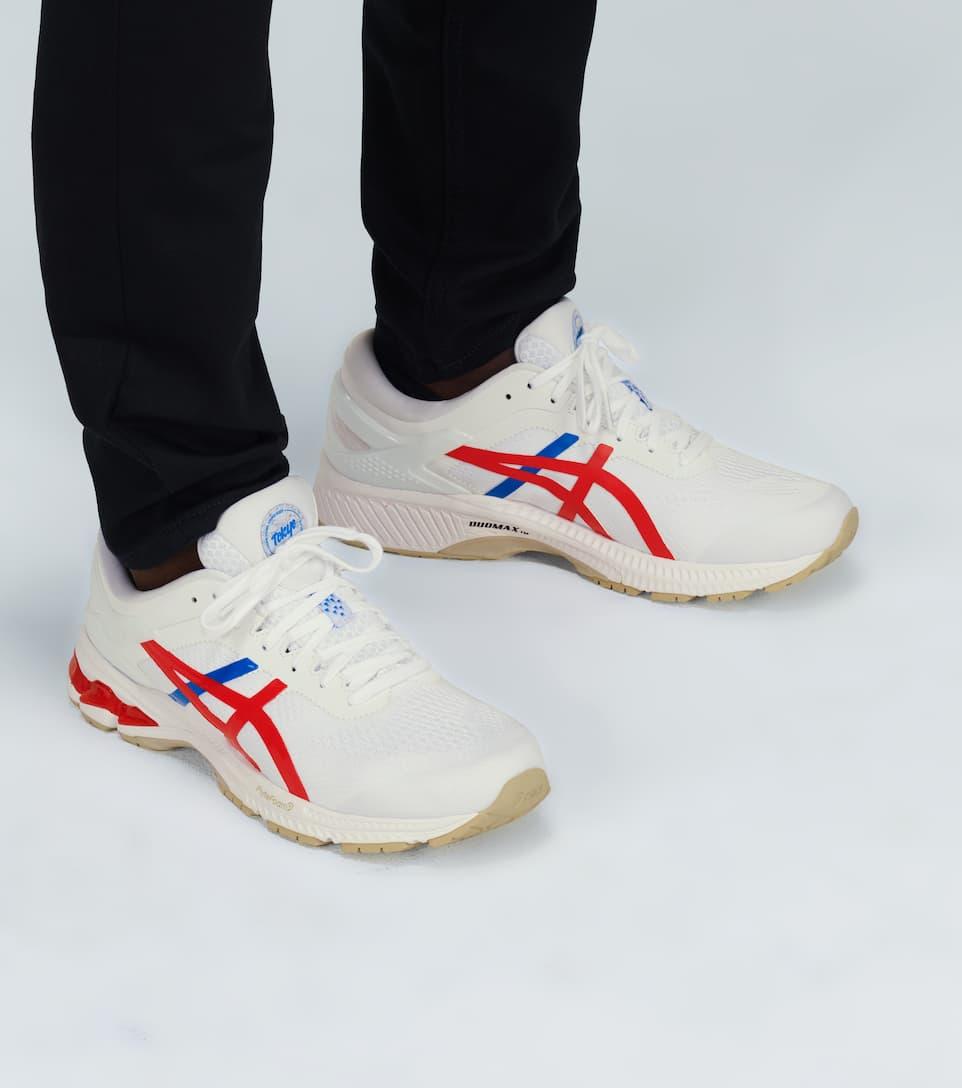 ASICS Gel Kayano 26 Running Shoes Women white classic red