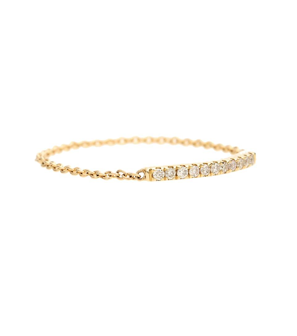 Sydney Evan Ring aus 14kt Gelbgold mit weißen Diamanten