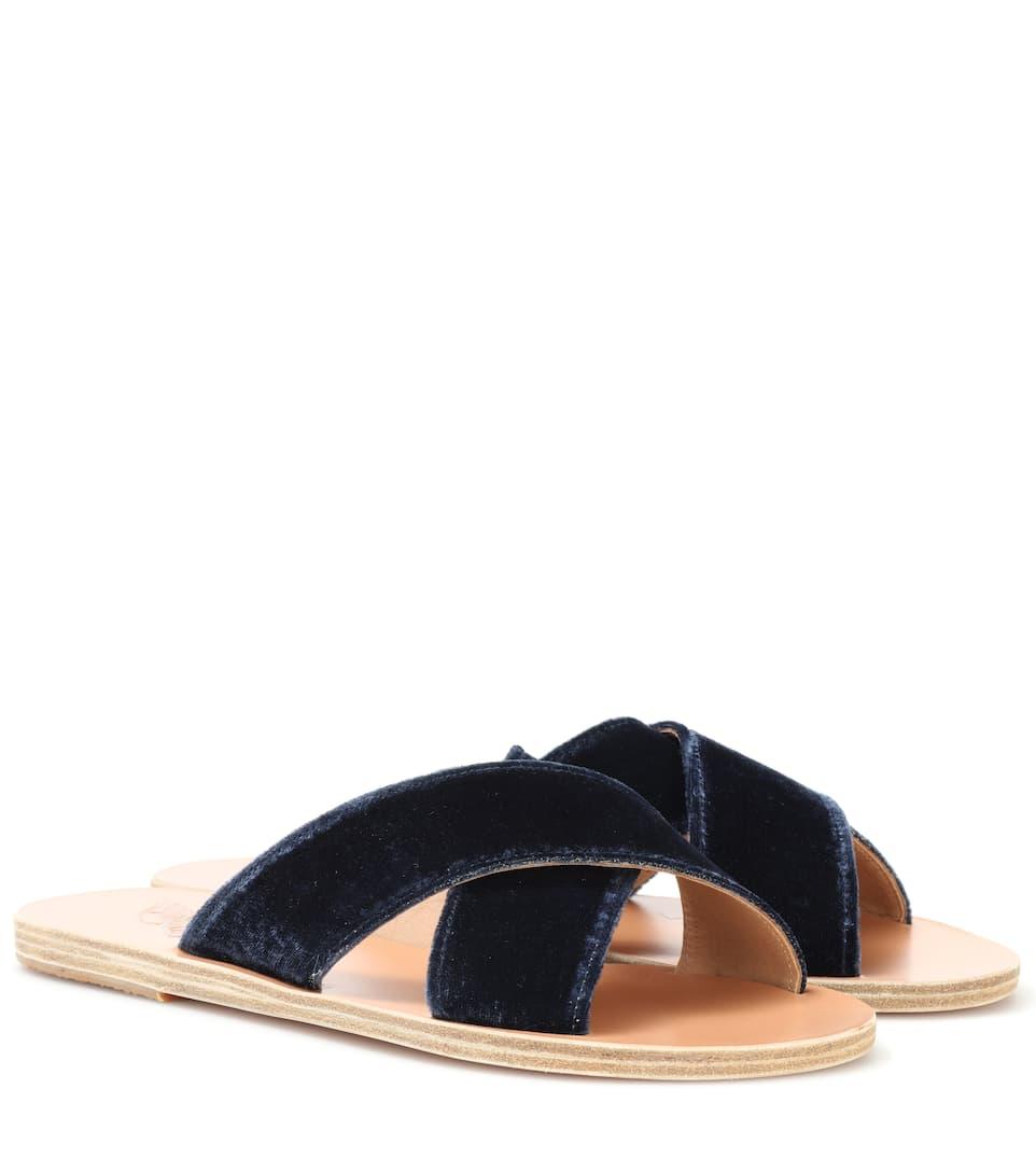 Ancient Greek Sandals Velvet Thais Sandals in . kpSiKCt8