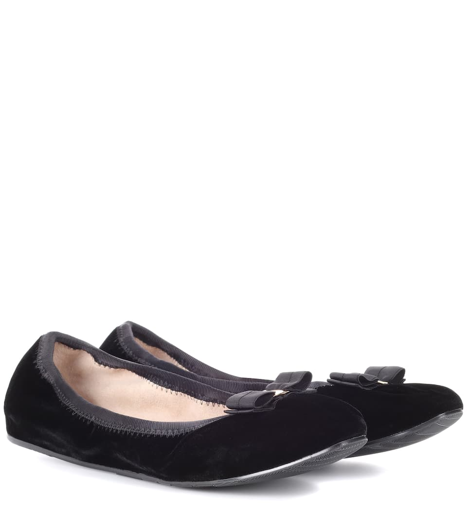 Salvatore Ferragamo Velvet ballerinas clearance countdown package buy cheap best wholesale new styles for sale buy cheap with credit card I2FP3yAHos
