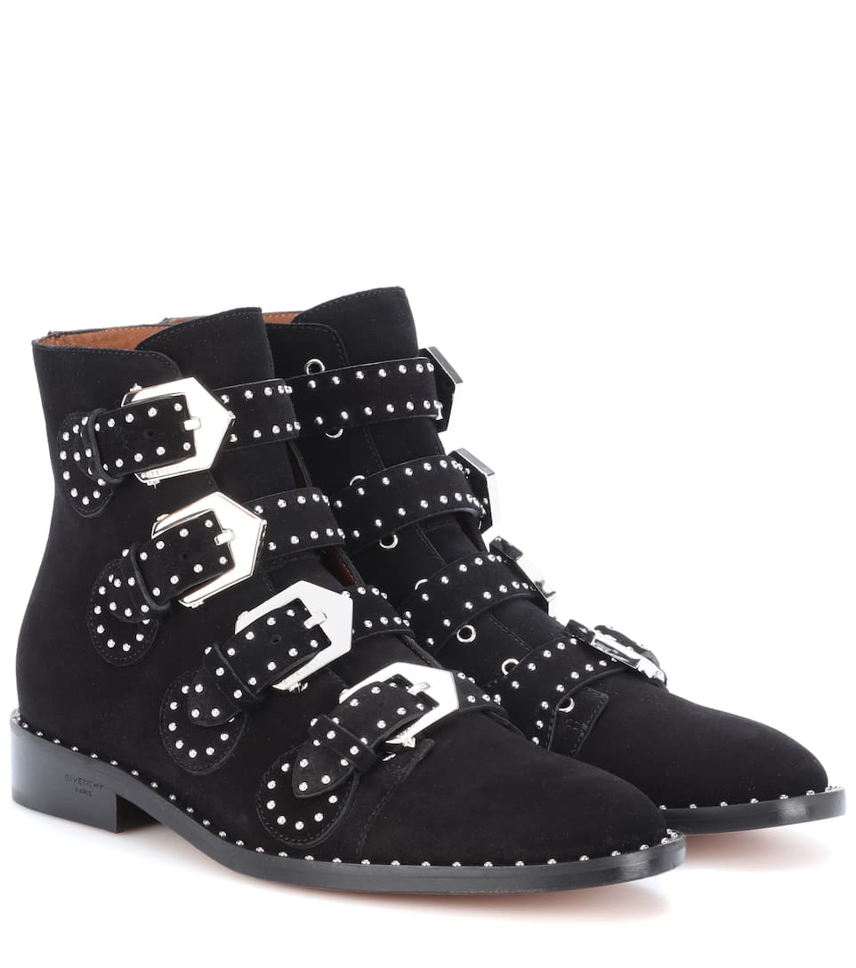Bottines En Daim à Ornements by Givenchy