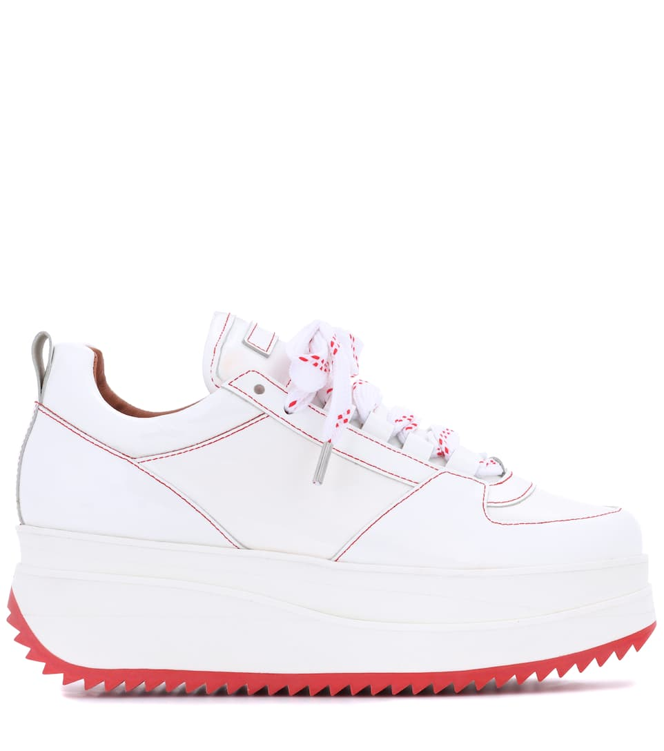 Ganni Exclusive to mytheresa.com – Edel patent leather sneakers cheap finishline MvHkX