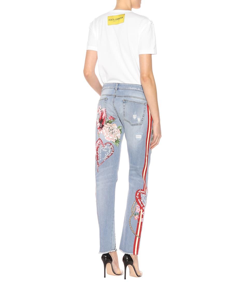 Dolce & Gabbana Verzierte Distressed Jeans