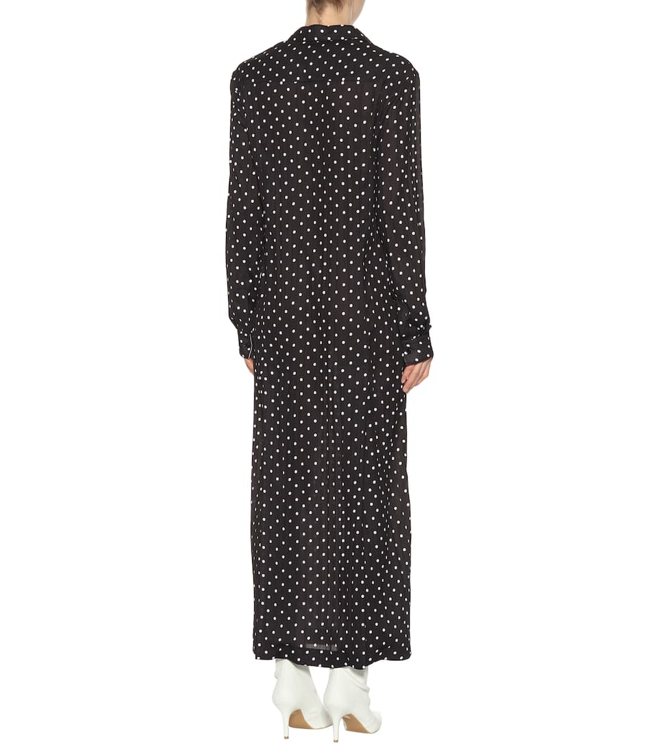 Haider Ackermann Maxi Dress With Polka-dots From Crêpe