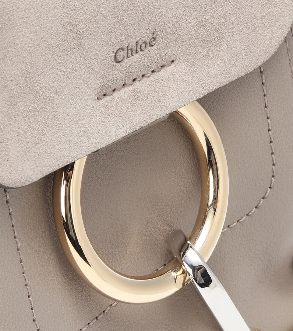 Chloé Backpack Faye Mini Of Leather And Suede