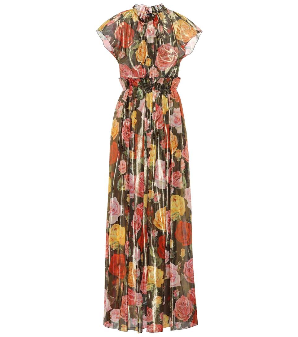 Dolce & Gabbana - Robe en soie mélangée imprimée