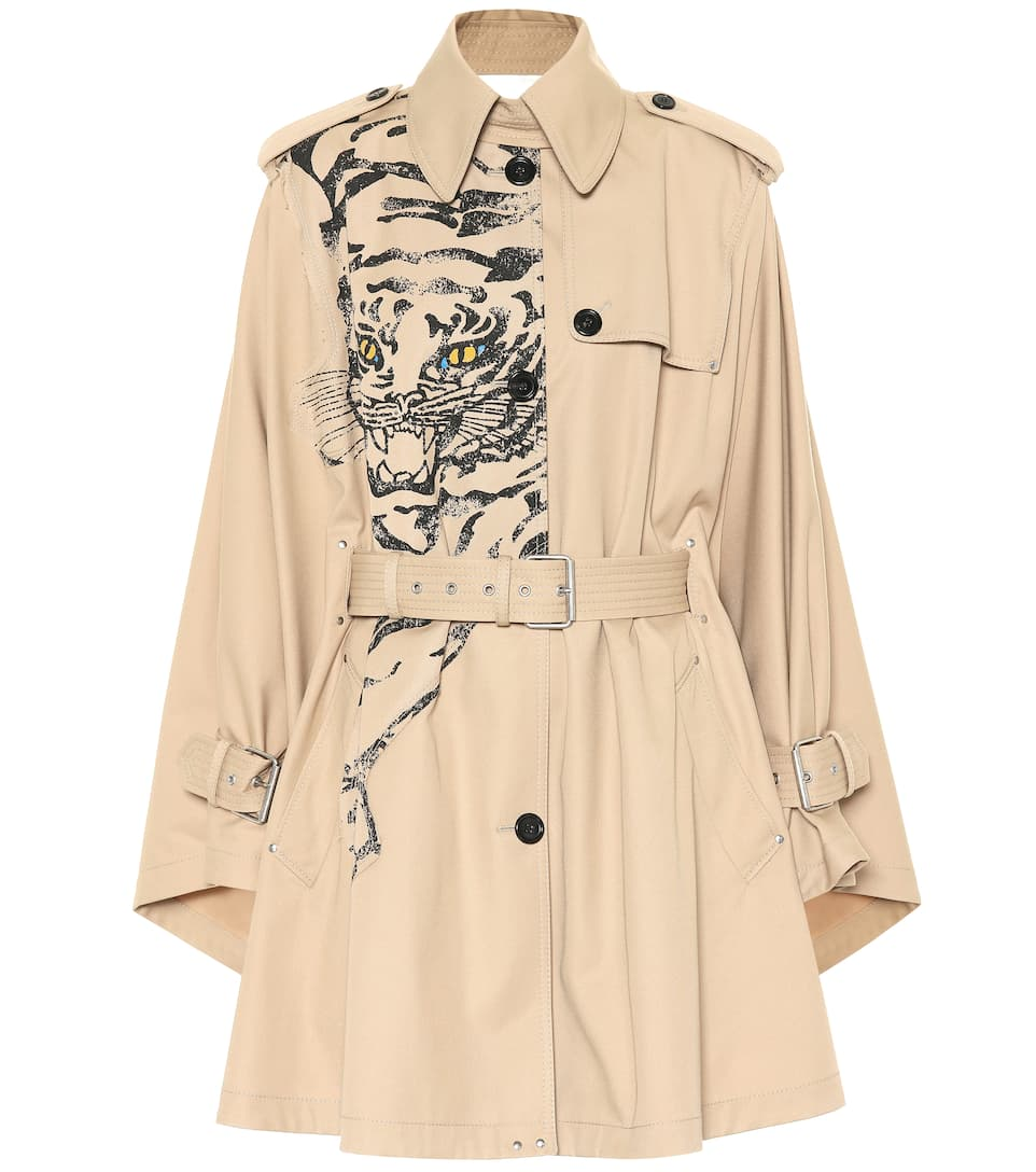 Tiger Re-Edition Cotton-Blend Coat in Neutrals
