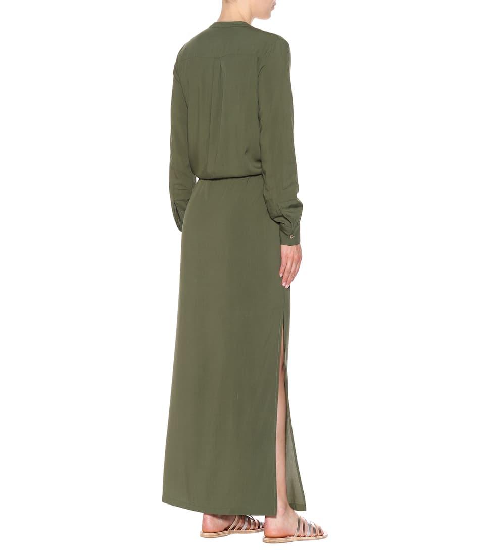 con vestido Odabash maxi Melissa Meghan cordones Caqui Z6CqnwI