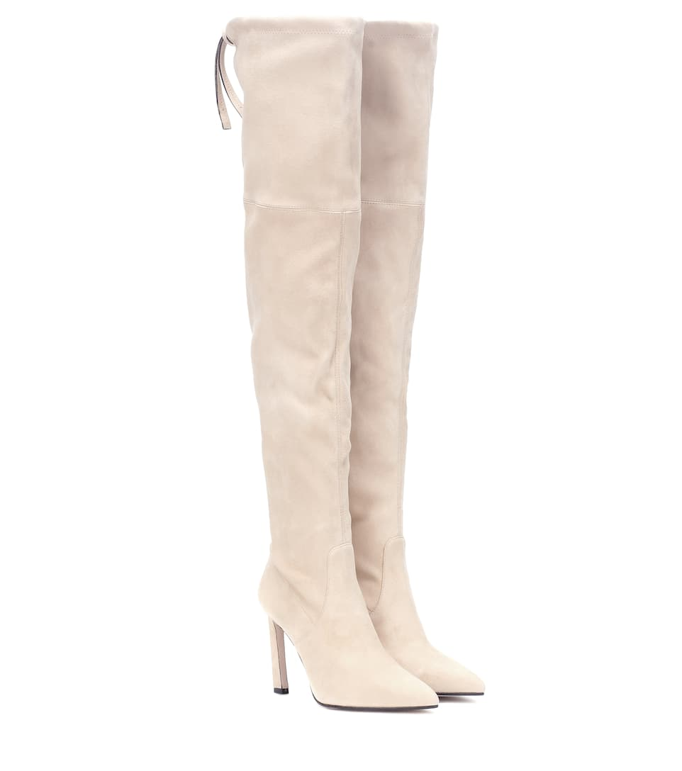 Natalia 100 Suede Over The Knee Boots by Stuart Weitzman