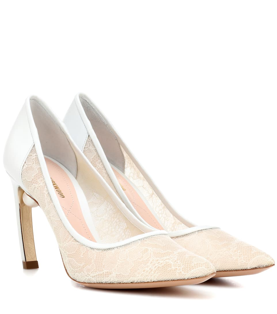 e7ab05cd3834 Mira Pearl Lace And Leather Pumps - Nicholas Kirkwood