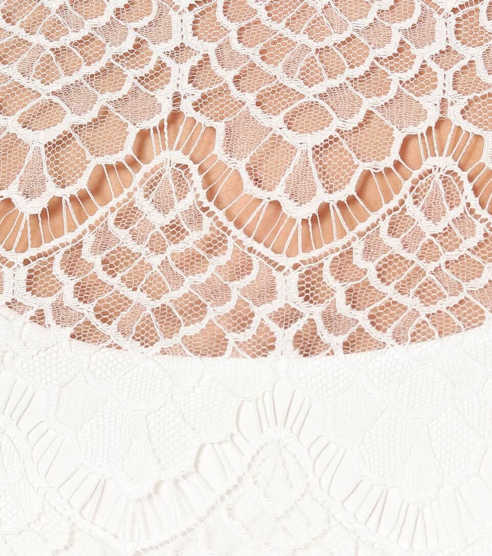 Max Mara - Ornato rebrodé-lace bridal blouse