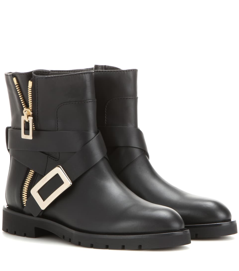 Roger Vivier Biker Zip leather ankle boots