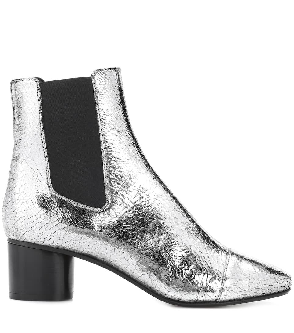 Isabel Marant Danelya metallic leather ankle boots CrzFIIjcv