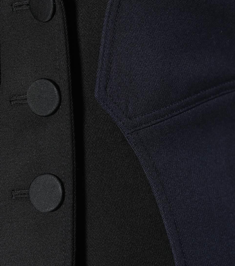 medida lana abrigo de a Burberry negro 1gBvq