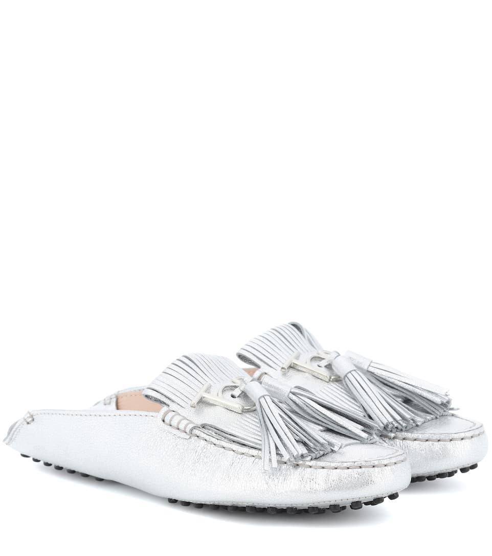 Tod's Loafers Gommino aus Metallic-Leder