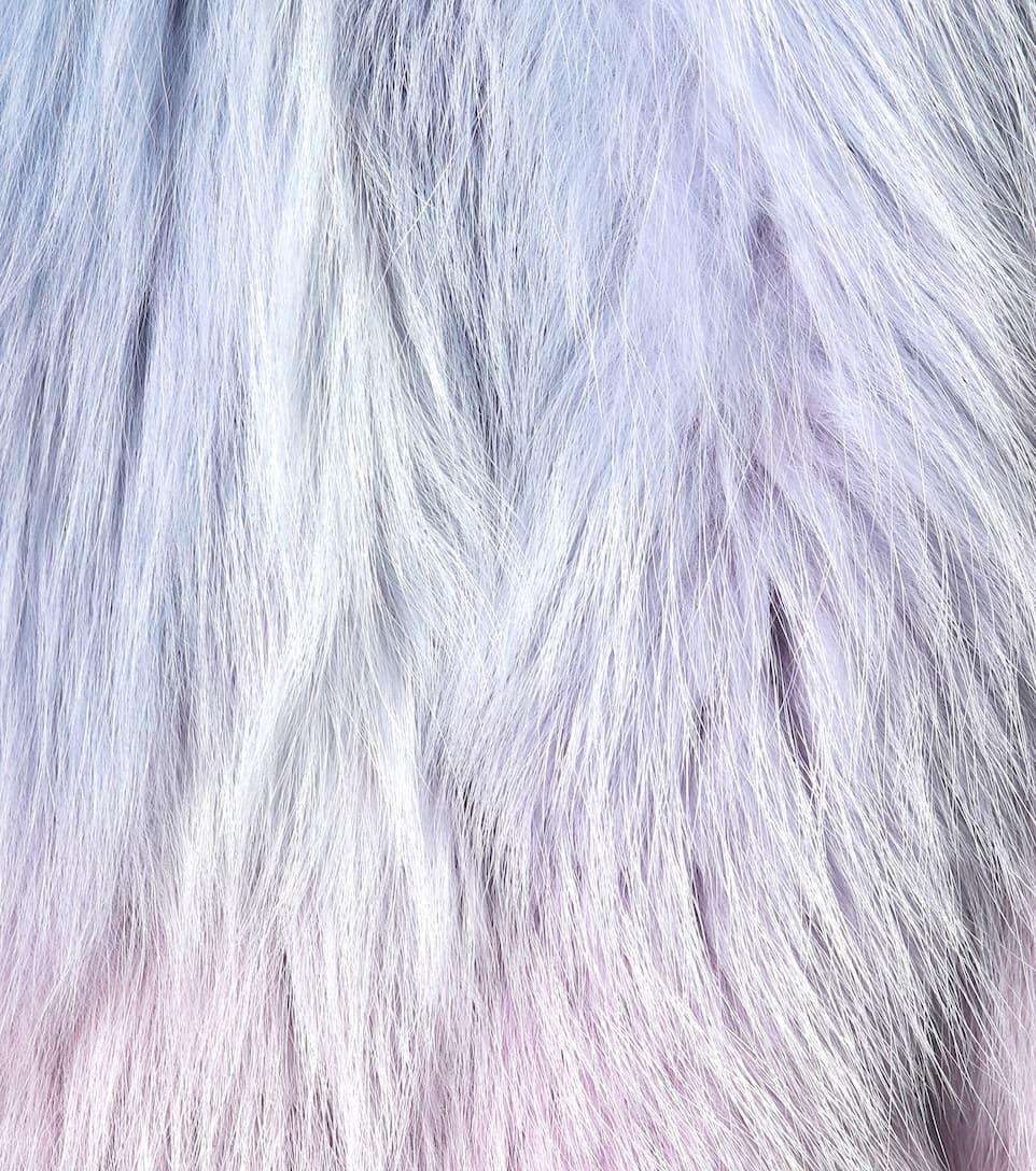 Saint Laurent Kurzer Mantel aus Fuchspelz