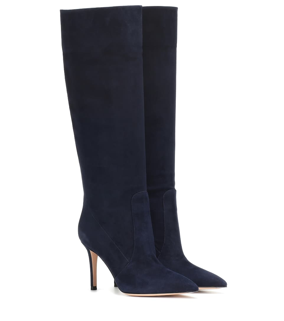 Susan 85 Suede Boots by Gianvito Rossi