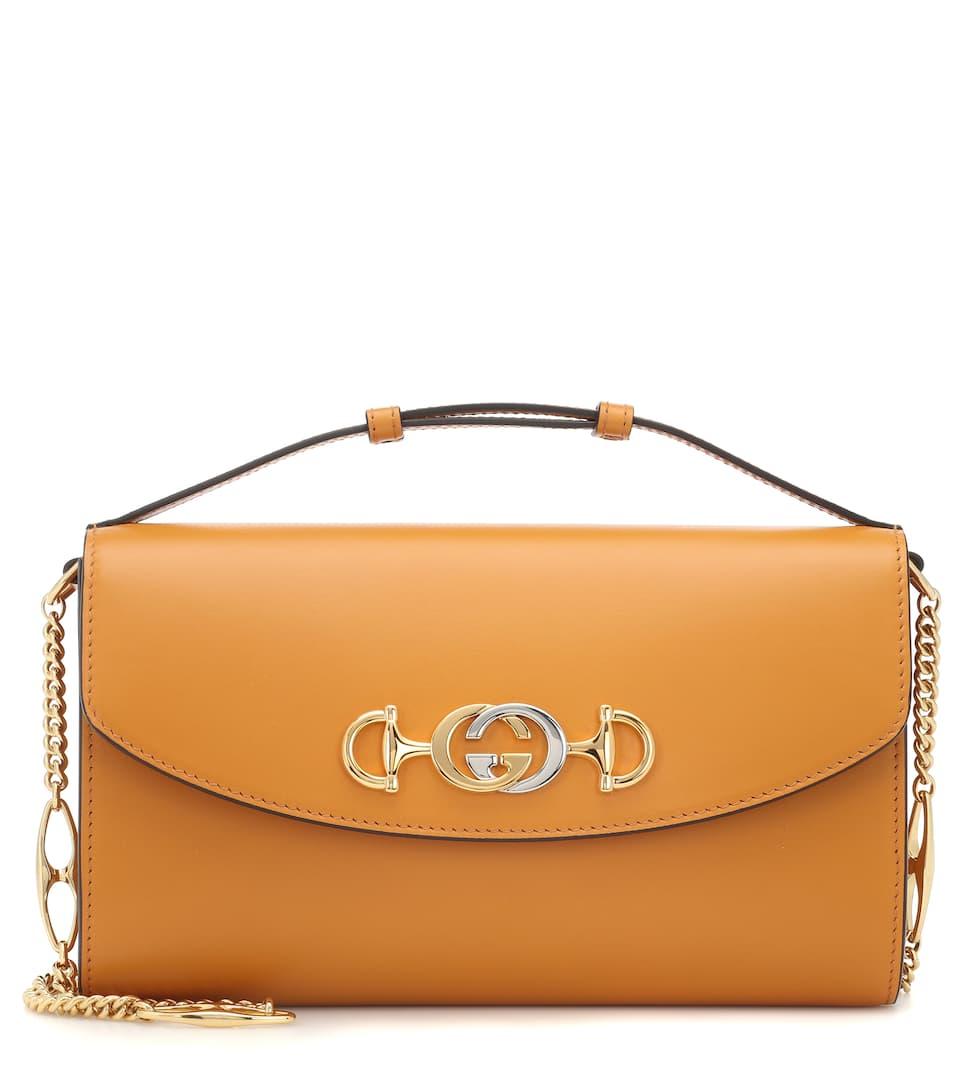 b5e8fb88e6cc Gucci Zumi Leather Shoulder Bag | Gucci - Mytheresa