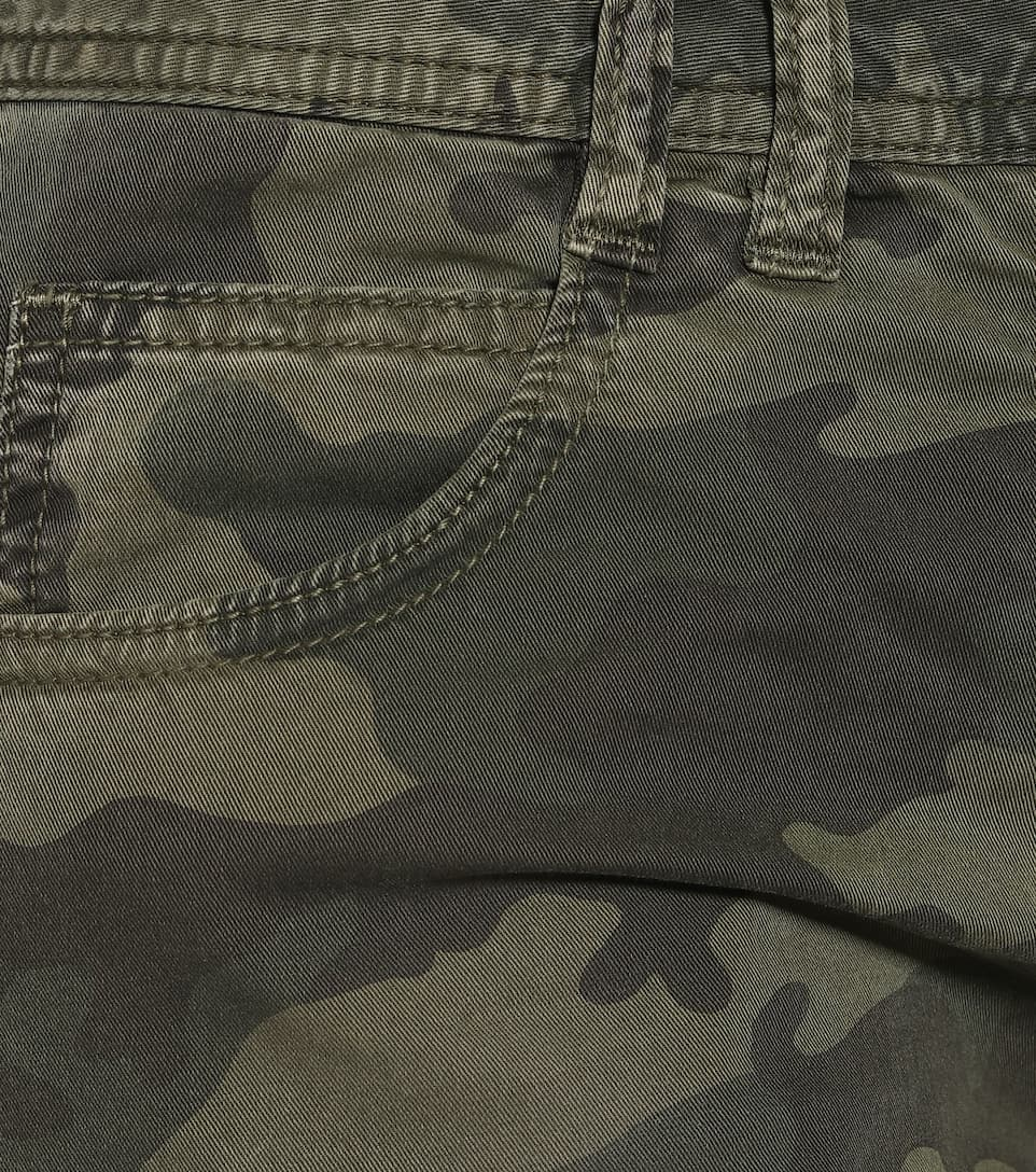 Balmain - Camouflage mid-rise flared jeans