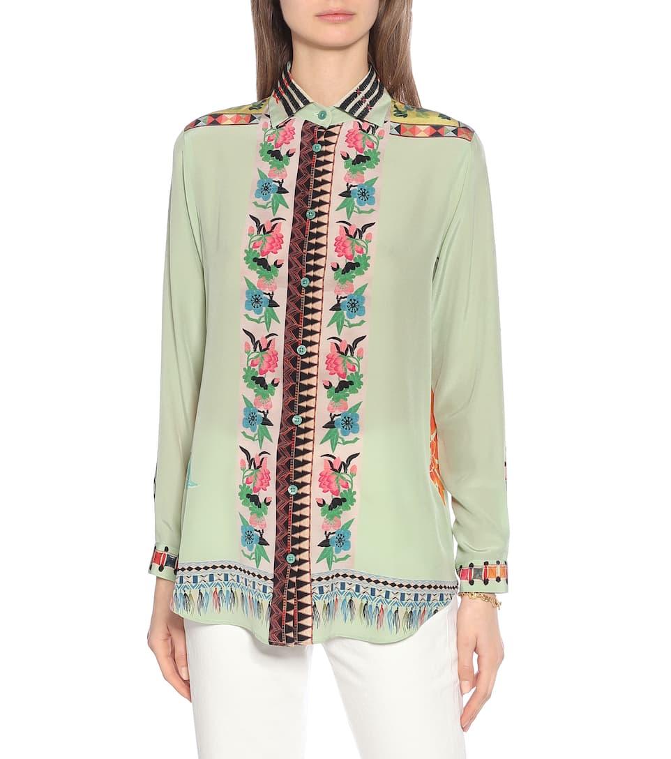 Etro - Printed silk shirt