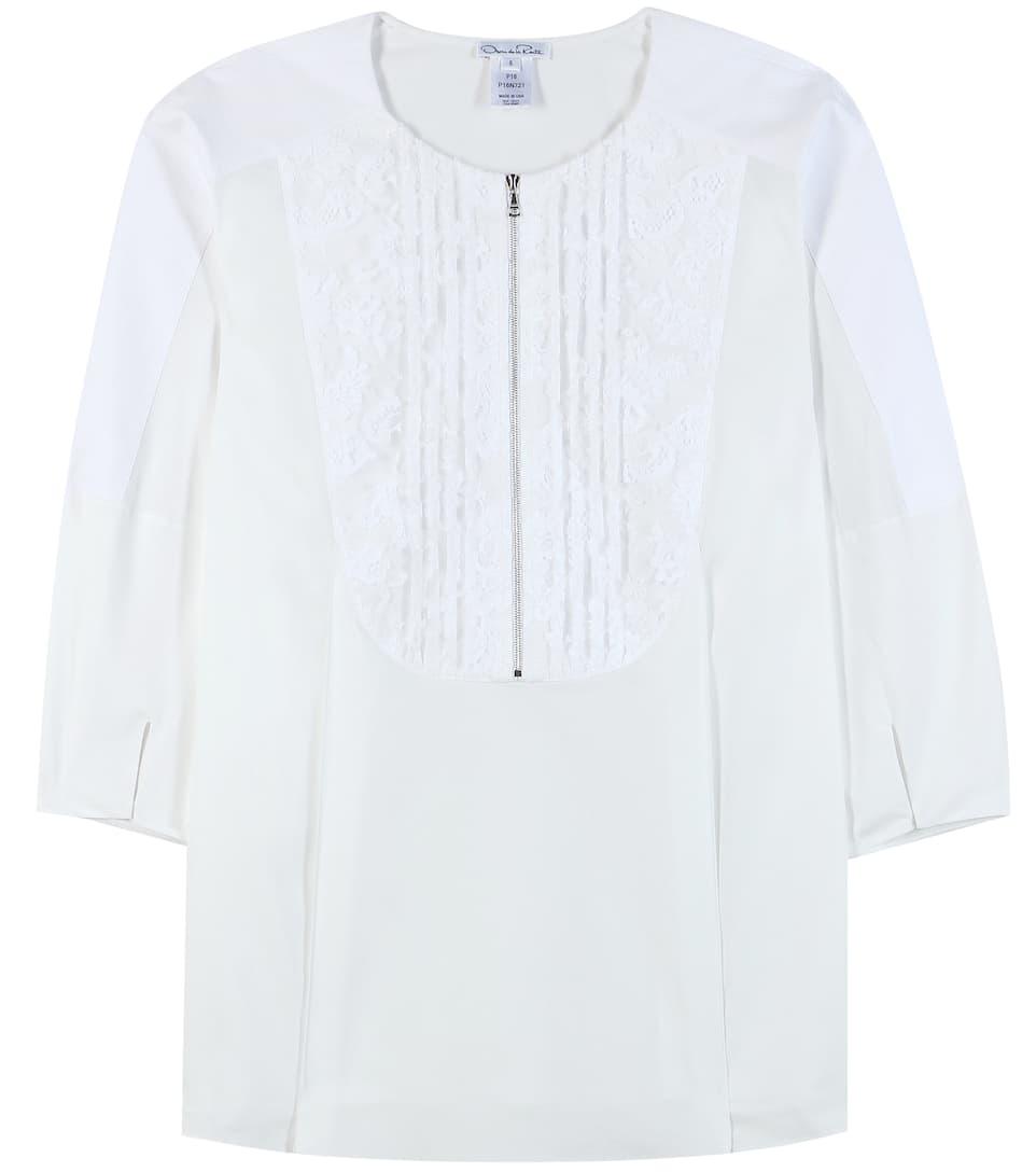 Oscar de la Renta Cotton blouse