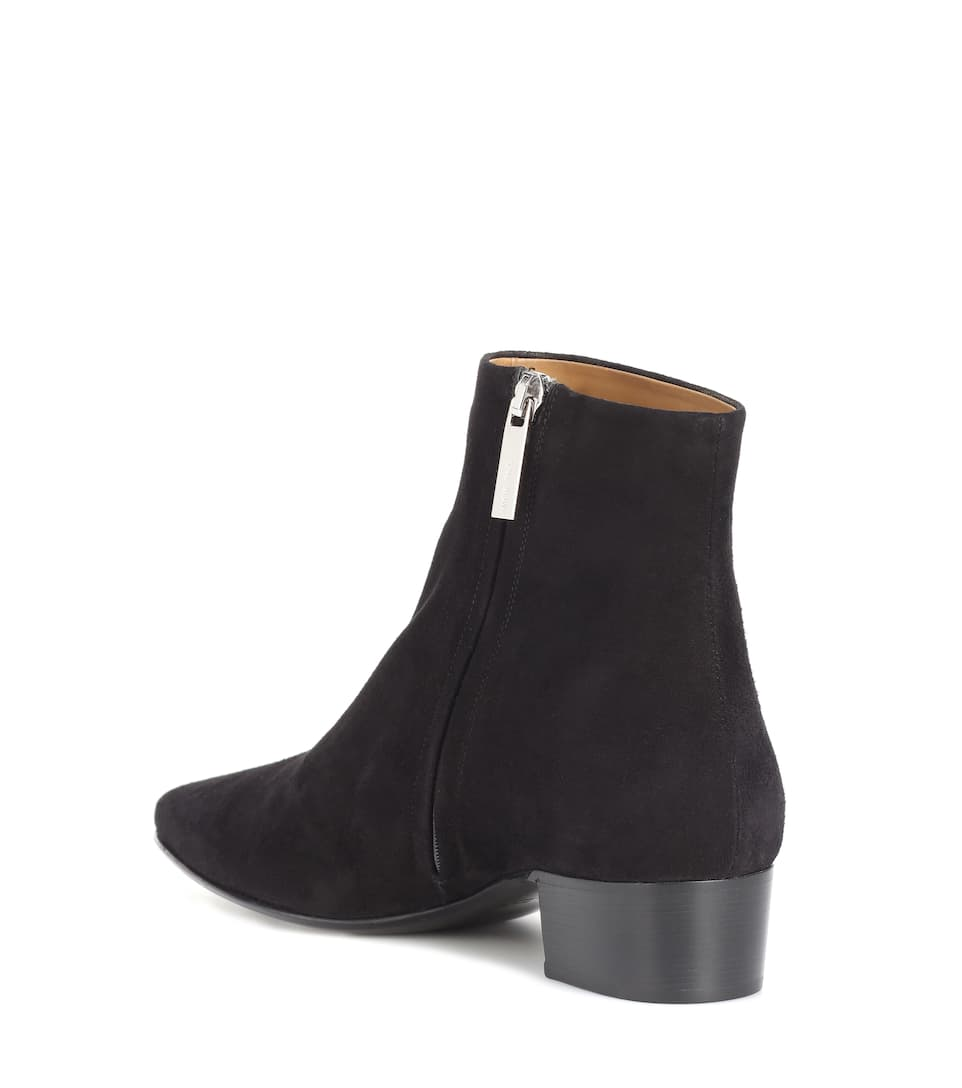The Row Ankle Boots Ambra aus Veloursleder