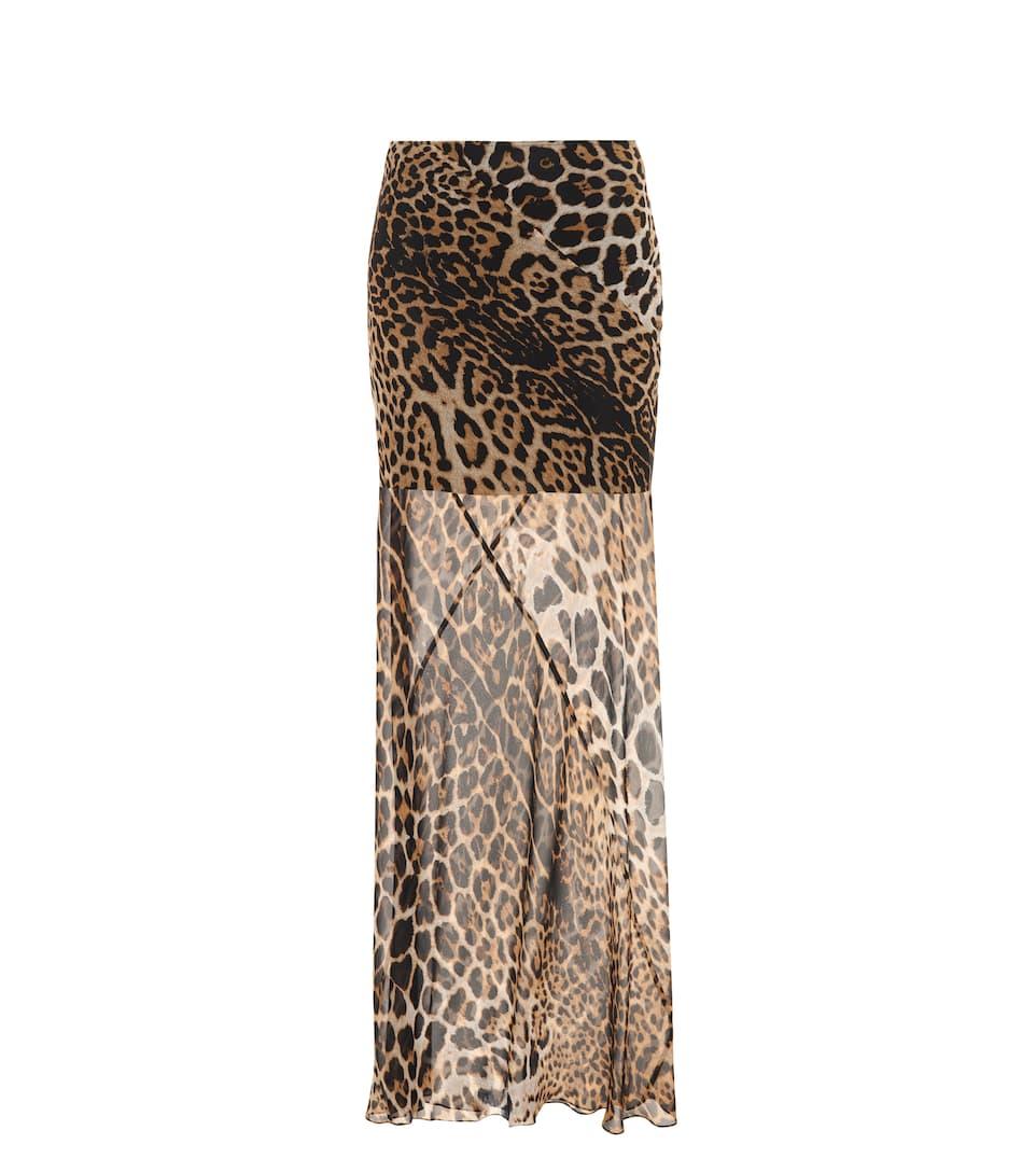 quality design e1b9e bd3d0 Saint Laurent - Gonna lunga animalier in seta | Mytheresa