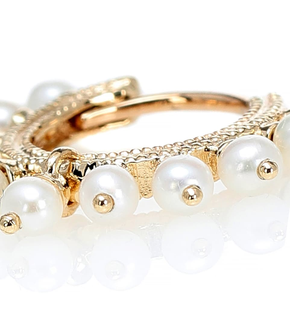 Maria Tash Pearl Coronet Ring 14kt gold and pearl earring JJhvP