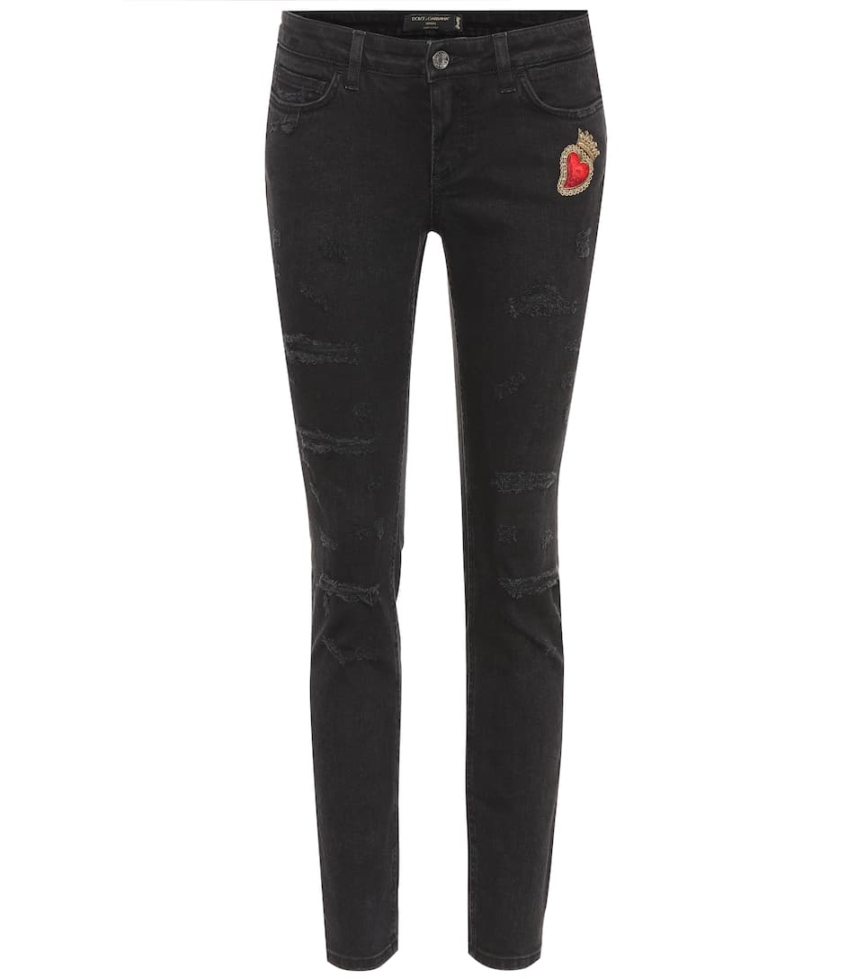 Dolce & Gabbana Bestickte Pretty Fit Jeans mit Patch
