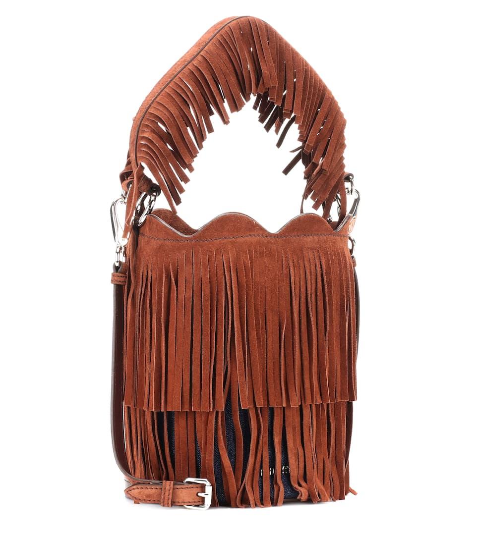 Miu Miu Bucket-Bag aus Veloursleder