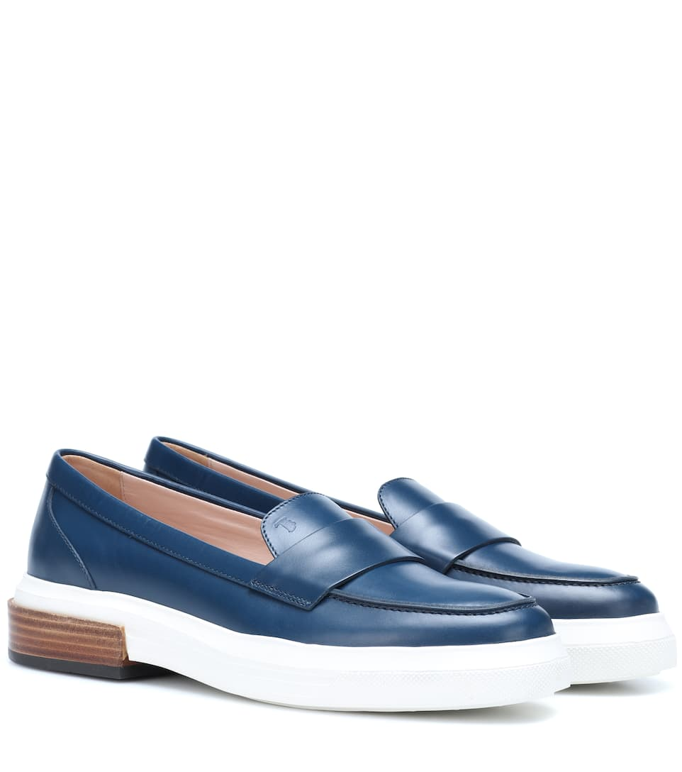 c51c53d92ffd Platform Leather Loafers - Tod s