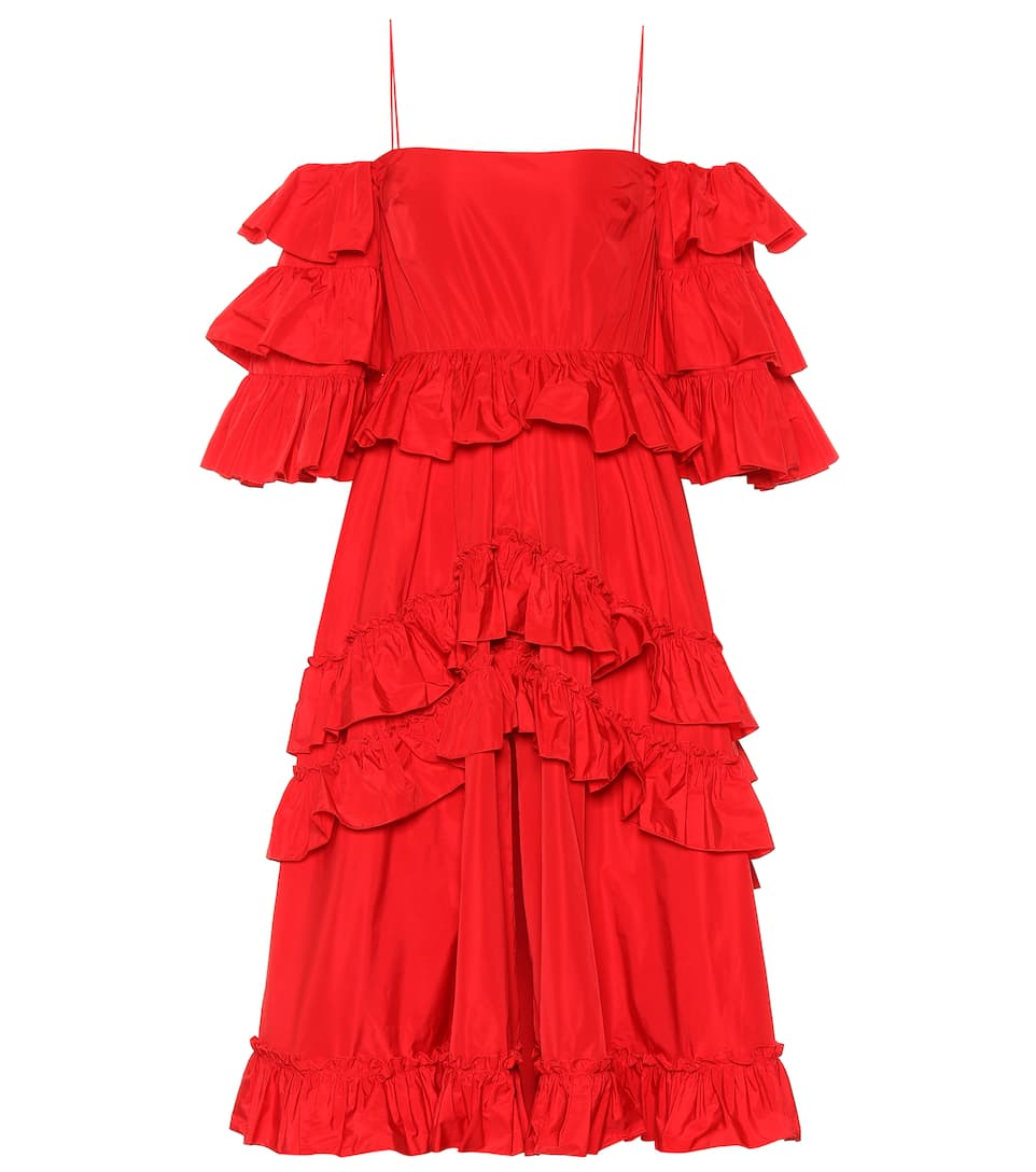 Alexa Chung TAFFETA RUFFLED DRESS