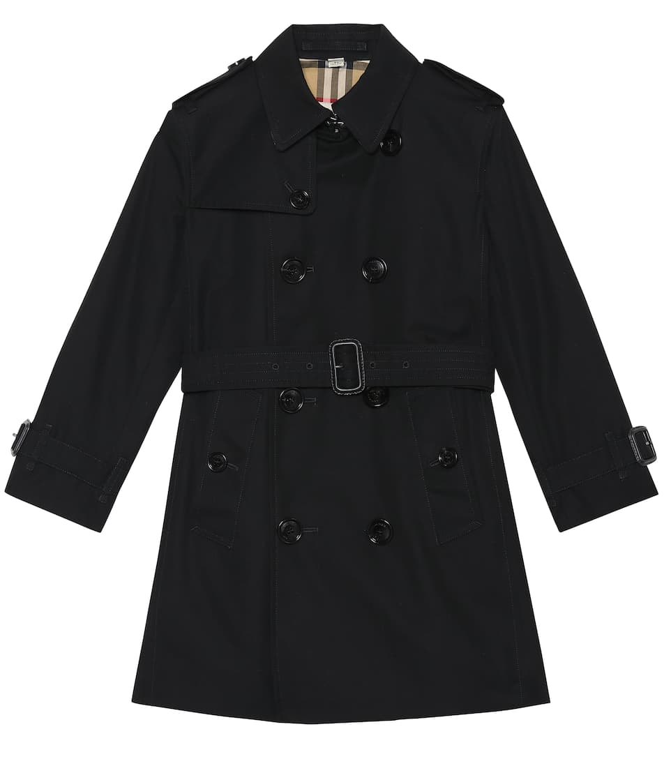Burberry Girls' Mayfair Trench Coat - Little Kid, Big Kid In Black