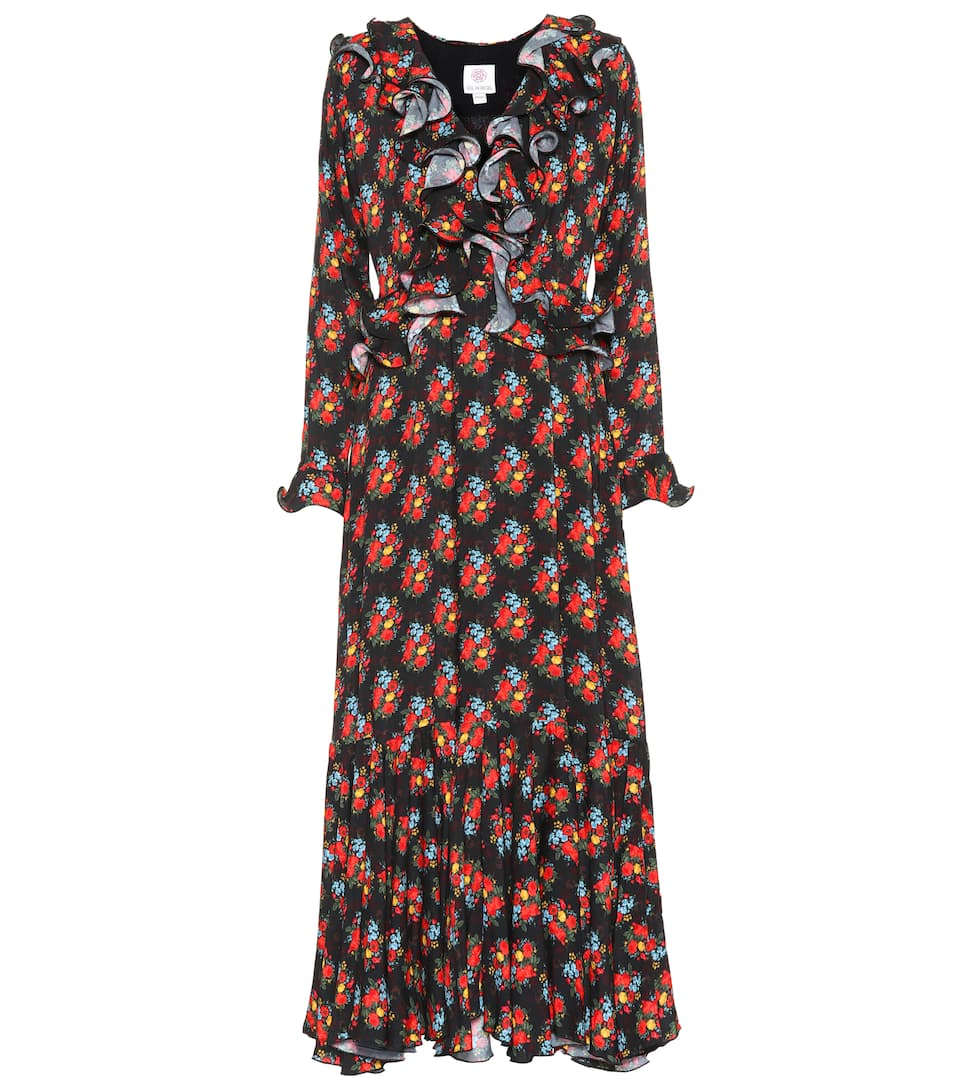 Hürgel En Longue Robe Coton Gül Imprimée W2IHDE9