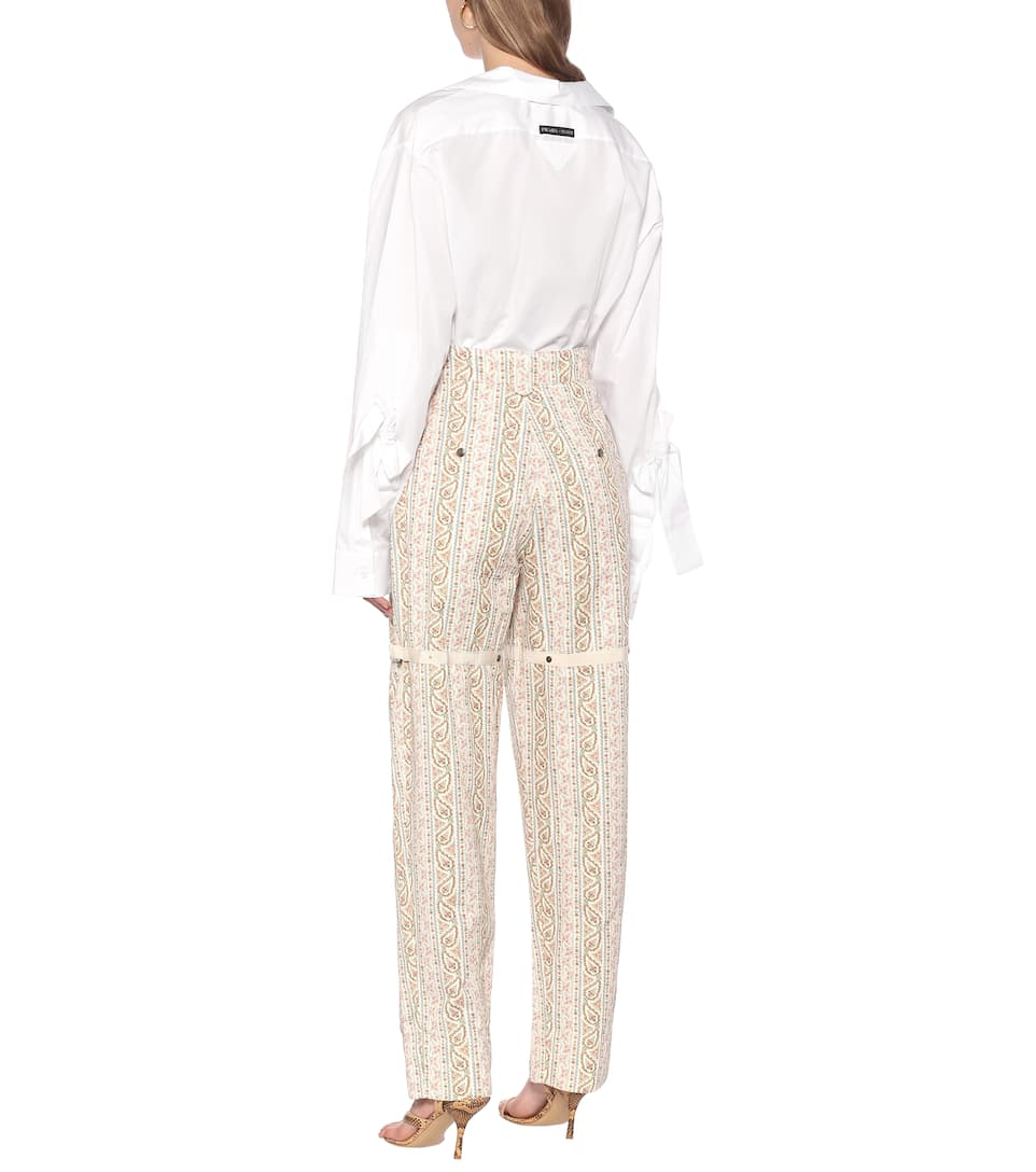 Etro - Paisley high-rise cotton pants