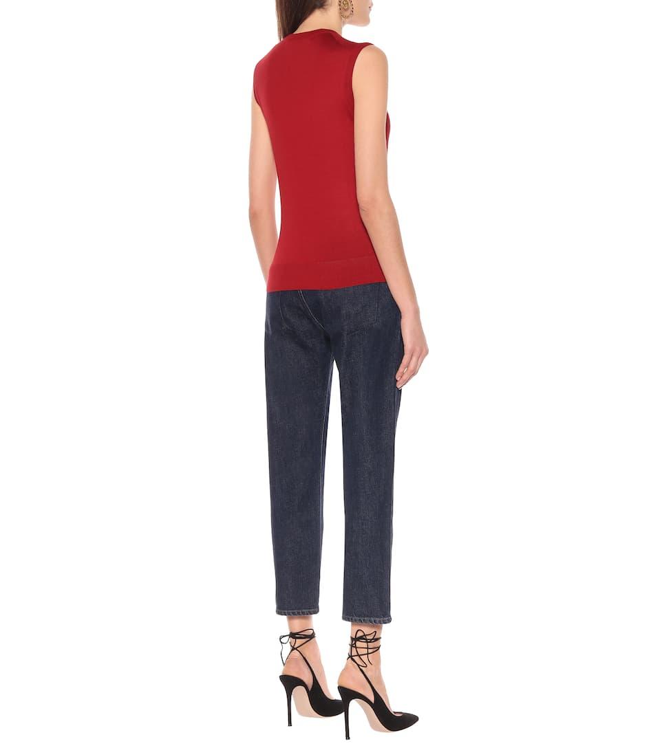 Dolce & Gabbana - Cashmere and silk knit tank top