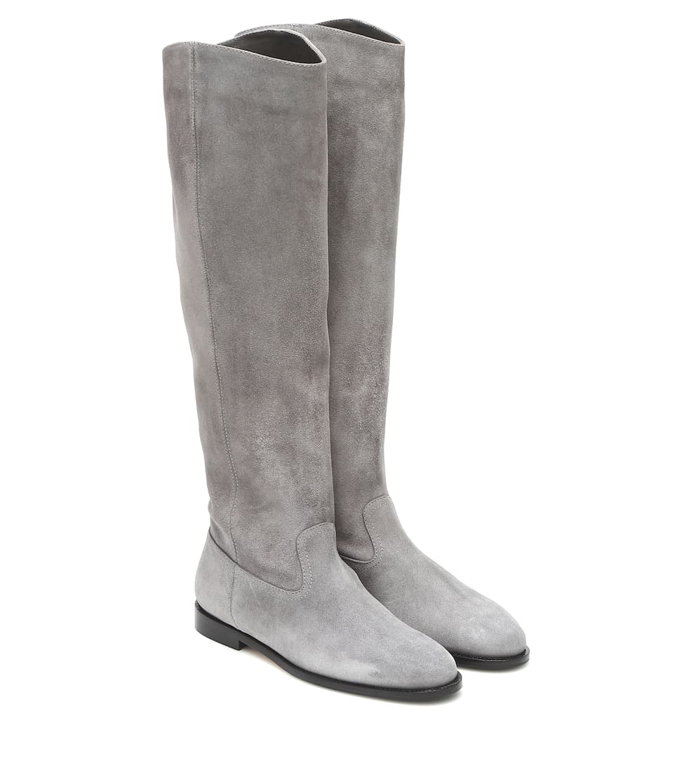Bree Suede Knee-High Boots - Jimmy Choo
