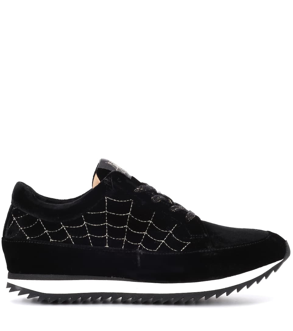 Charlotte Olympia Plateau-sneakers Work It Aus Samt