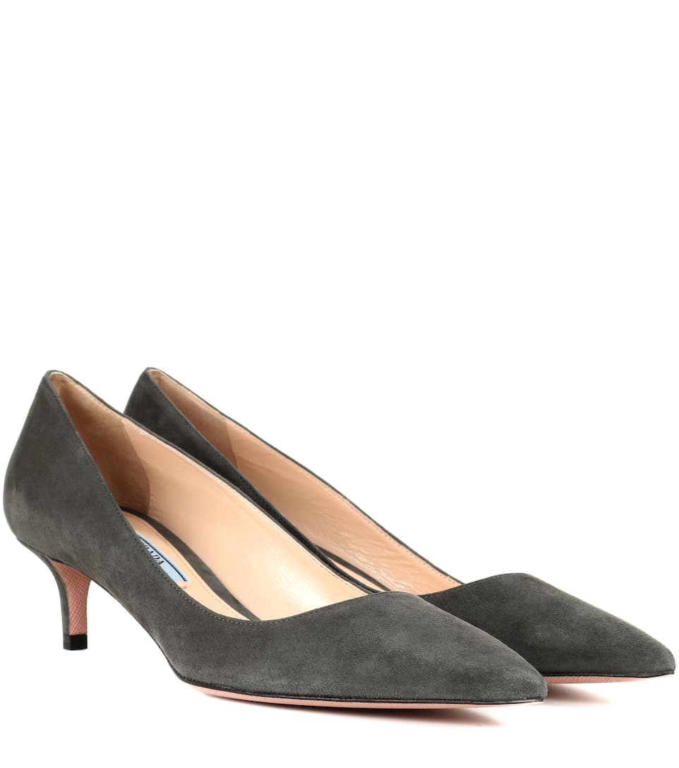 Prada Kittenheel-Pumps aus Veloursleder