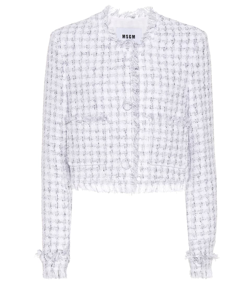 MSGM Cropped-Cardigan aus Tweed