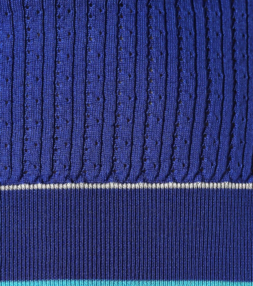 Agnona Top aus Seide und Baumwolle