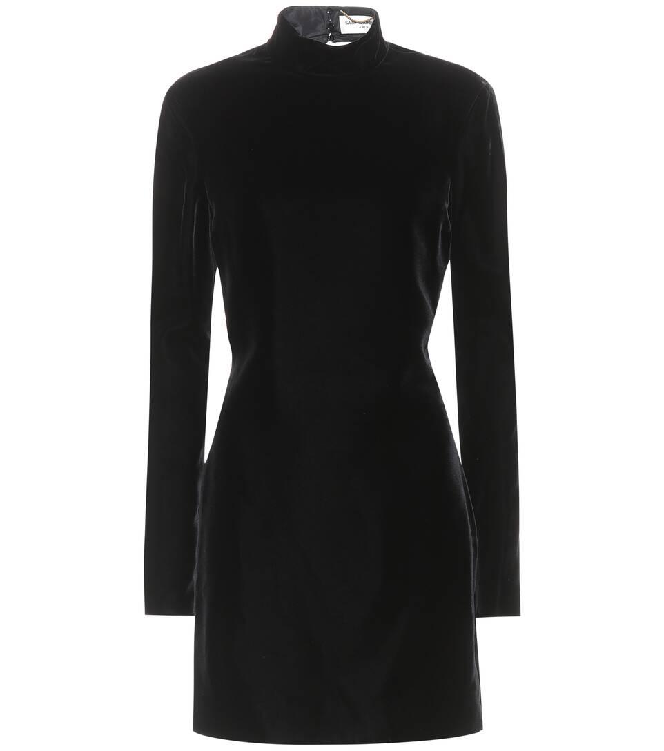 Saint Laurent Rückenfreies Kleid aus Samt
