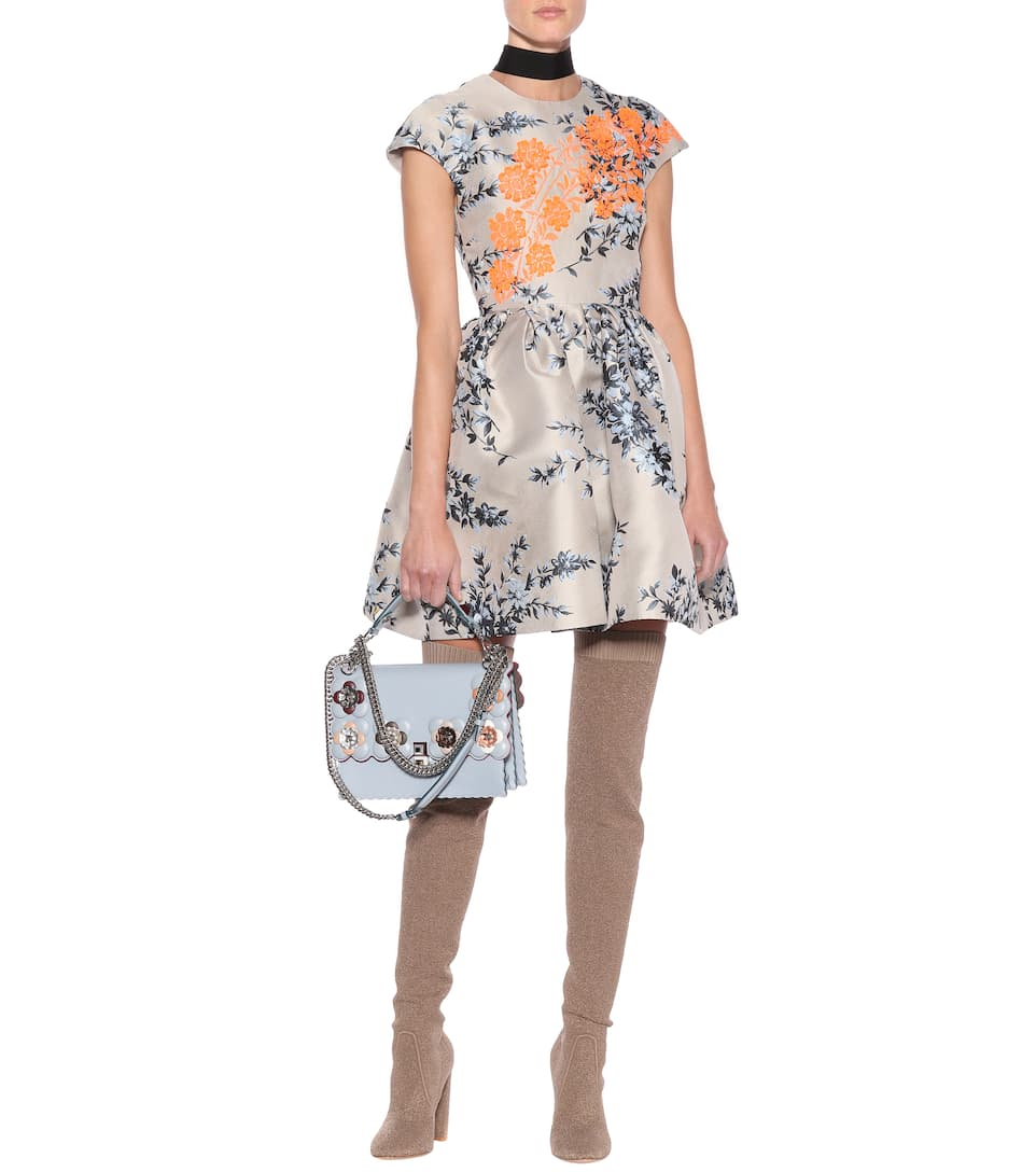 Embroidered jacquard dress. Fendi