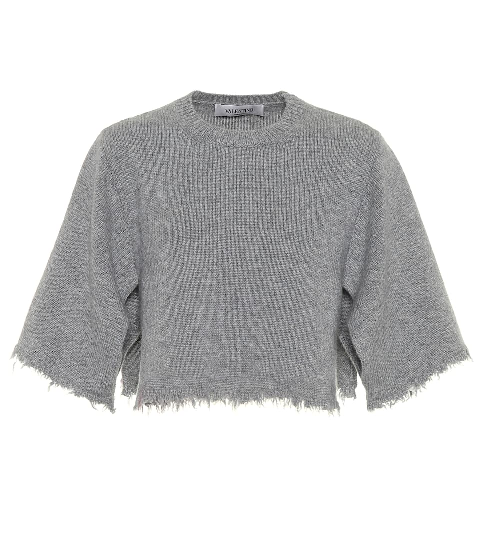 Valentino Cropped-Pullover aus Cashmere
