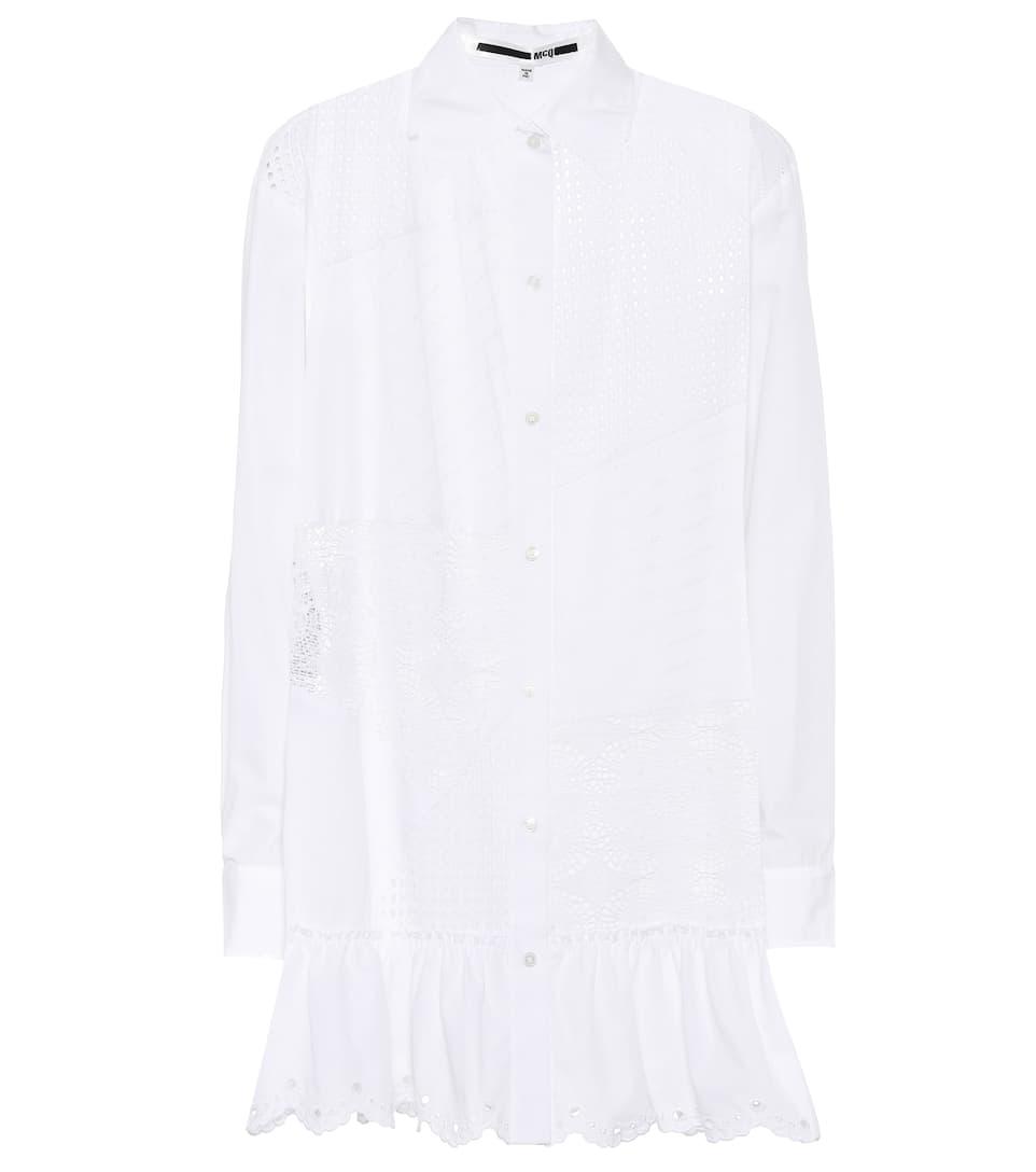 Se Connecter McQ Alexander McQueen - Robe chemise en coton et crochet Vente Exclusive Réduction Classique Bon Marché De Nouveaux Styles 2oEYEqPOu