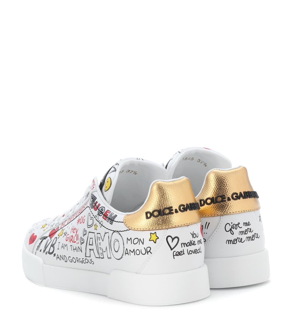 Pelle Gabbana Sneakers In Dolceamp; Stampata lK1Jc3FT