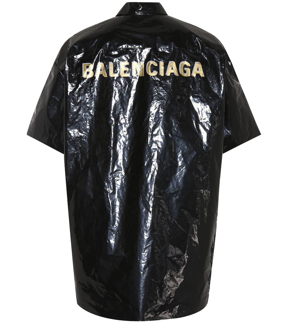 Balenciaga Bin water-repellent shirt Black Pre Order Buy Cheap Price Fashionable Sale Online 2byiPY