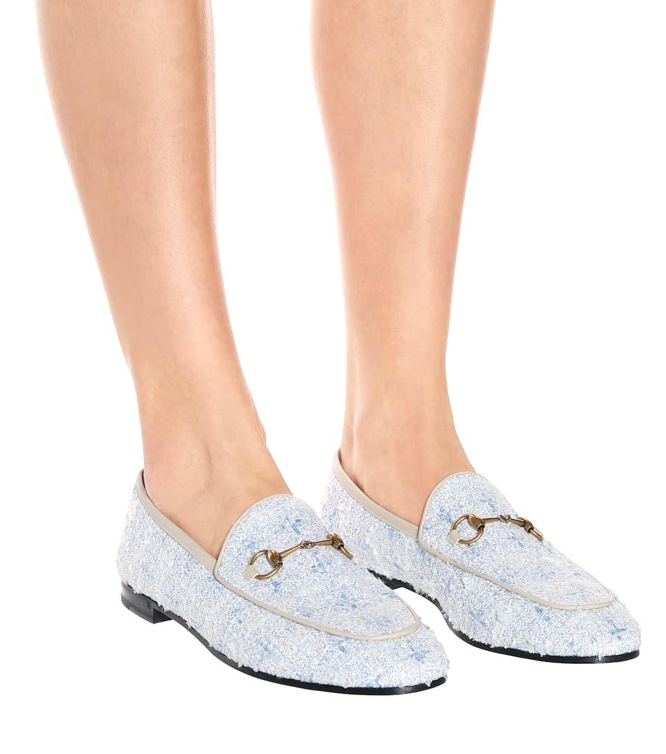 558c6e90d7 Jordaan Tweed Loafers - Gucci | mytheresa.com